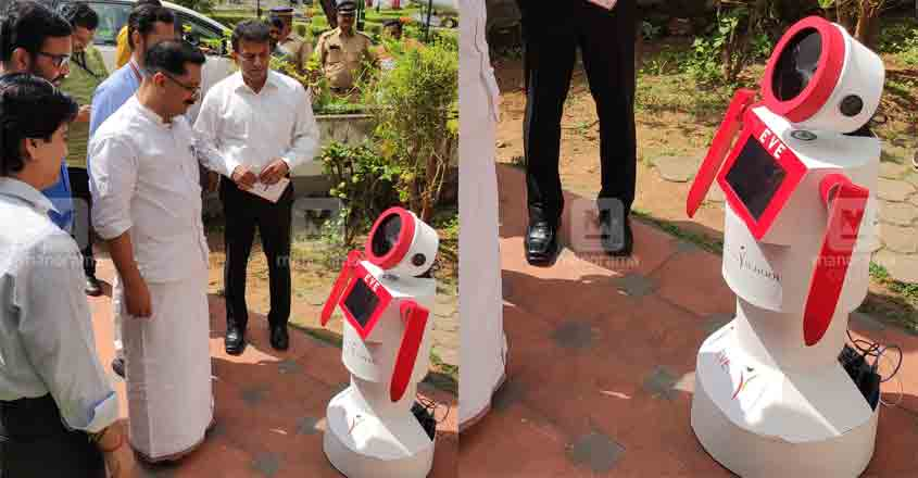 Robots extend a warm welcome to minister Jaleel