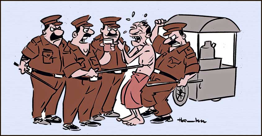 CM's pilot cops punished for thrashing wayside eatery owner