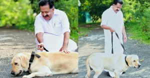 Chennithala pens touching note on his pet dog