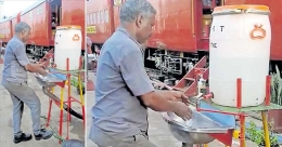 Thiruvananthapuram rail staff develop foot-operated hand-wash system