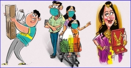 COVID-19 protocol in place, people step out for Onam shopping in TVPM