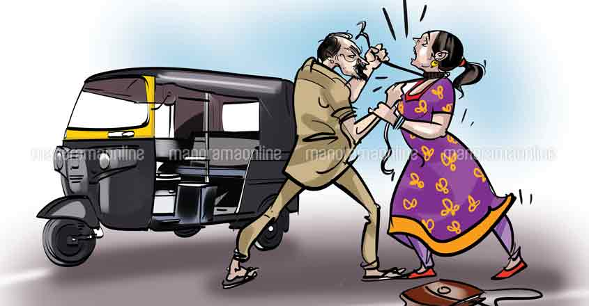 Woman rider injured as auto driver nooses her before robbery