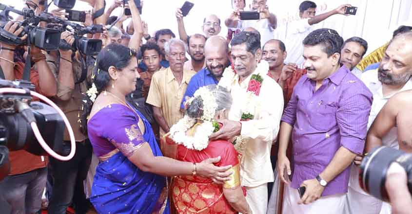 Elderly sexagenarian couple gets married at Thrissur old-age home