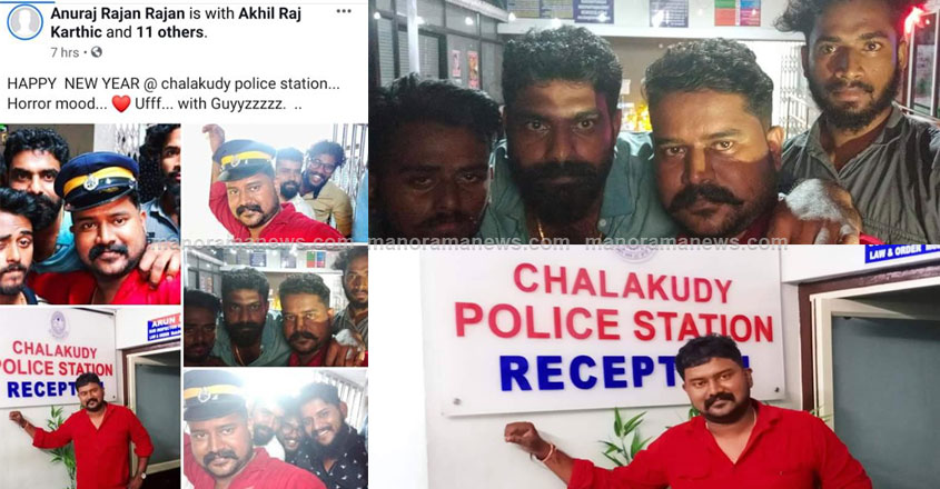 CPM local leader dons police cap, posts selfies on social media