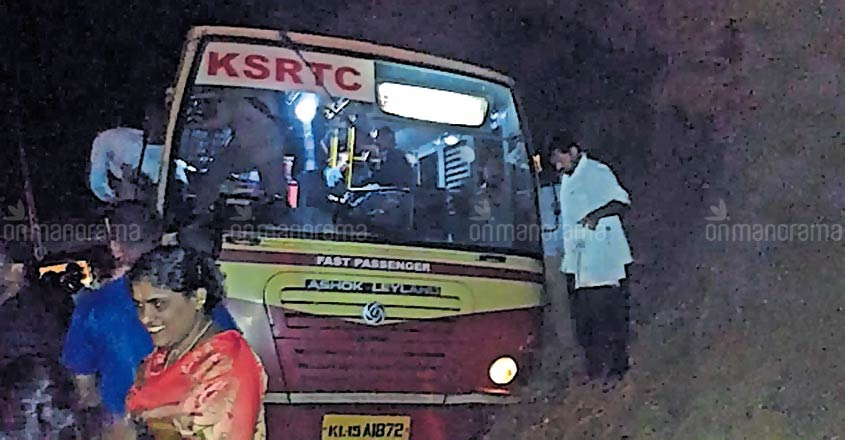 Narrow miss for 87 on board bus, driver saves the day