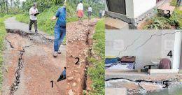Fear engulfs Wayanad village as cracks widen on hill