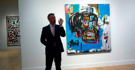 Basquiat painting sells for record $110.5 million at Sotheby's auction