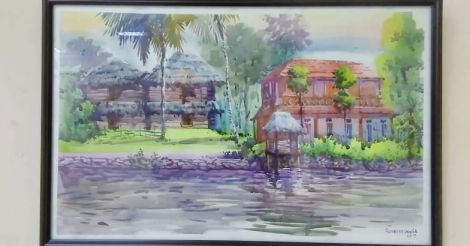 Greenscapes: a study of Kerala in water color