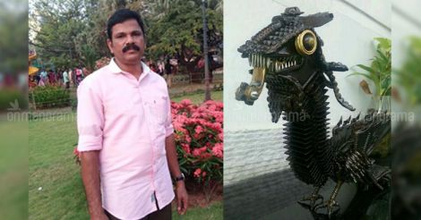 Ingenious Kochi sculptor breathes life into scrap