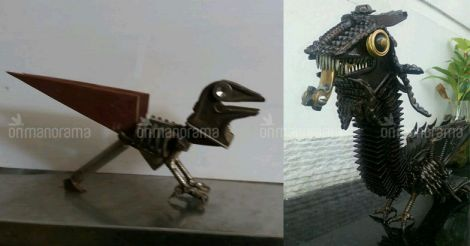 Ingenious Kochi sculptor breathes life into scrap