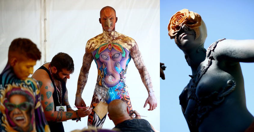 A real body of work: artists ditch canvases for humans at art festival