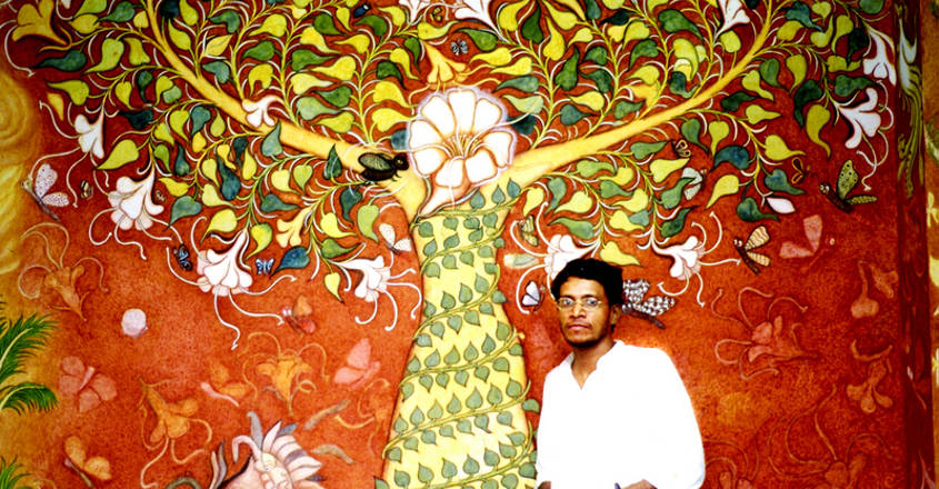 Malayali muralist's strokes on Banaras walls and music