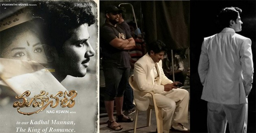 Dulquer Salmaan is spot on as Gemini Ganesan on the sets of biopic