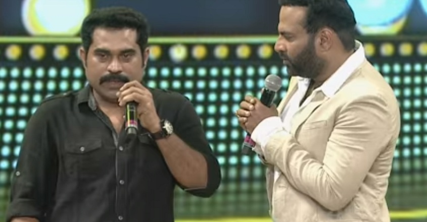 Suraj imitates Mohanlal at the Vanitha Film Awards | Video