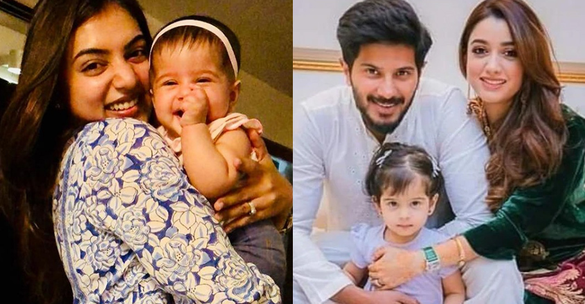 Nazriya's with Dulquer's daughter