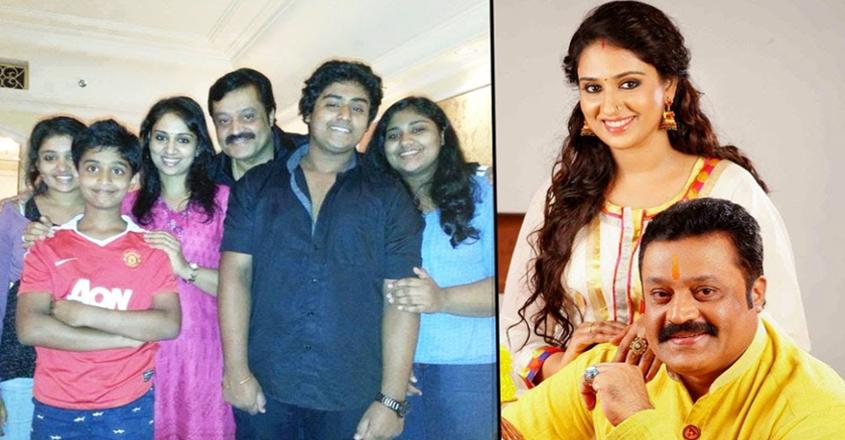 Suresh Gopi and family