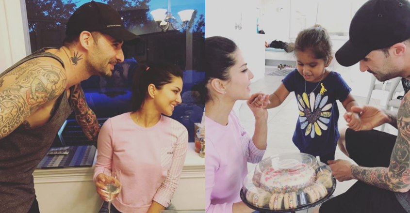 Little Nisha prepares wedding anniversary cake for Sunny Leone and Daniel Weber