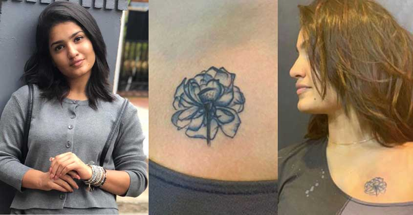 Saniya Iyappan flaunts gorgeous upper chest tattoo