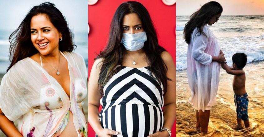 Sameera Reddy counters haters, flaunts baby bump in beachwear