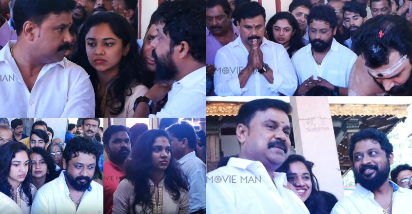Dileep's daughter Meenakshi turns heads as brother's maiden film is launched