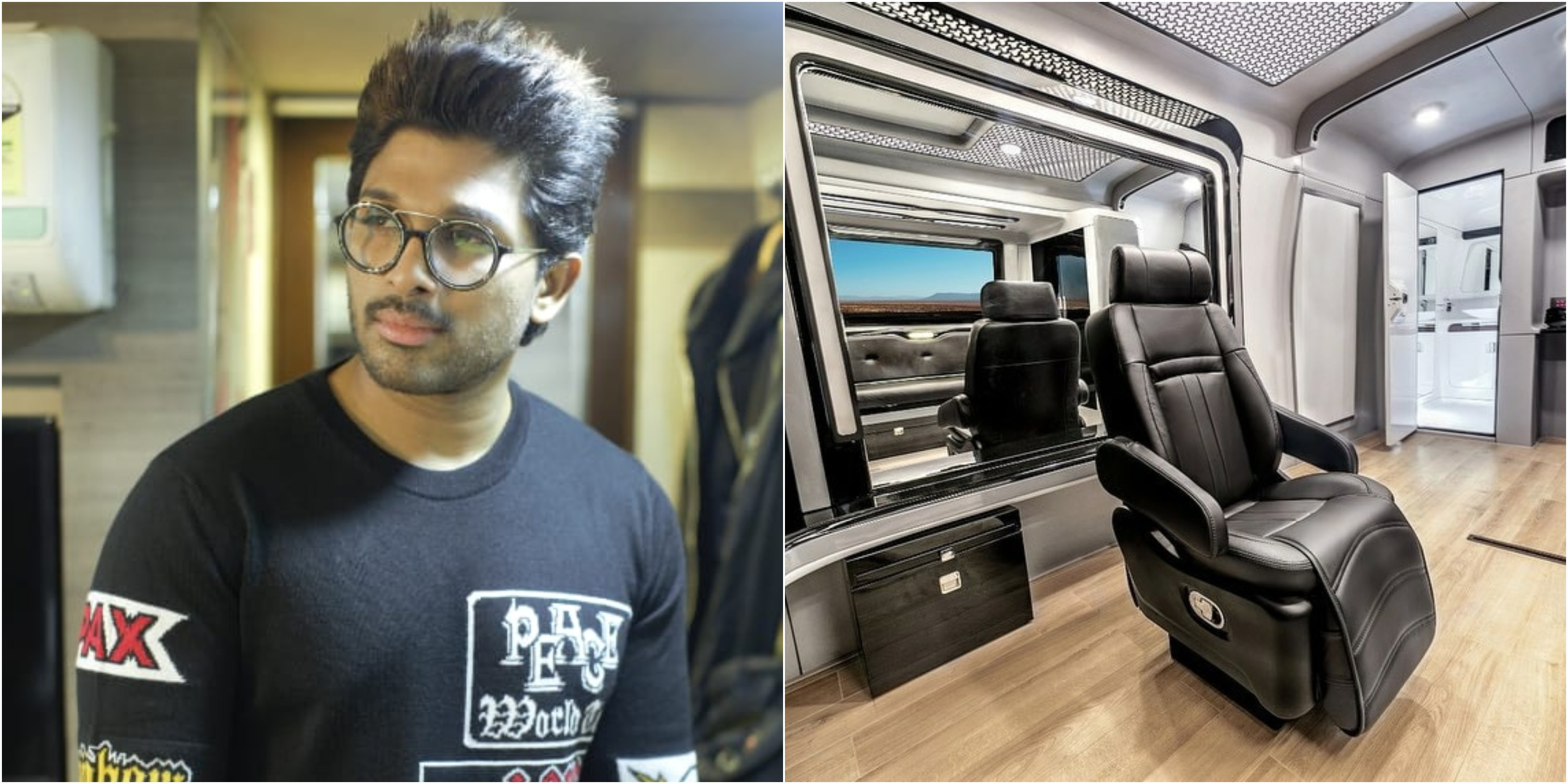 Allu Arjun shares photos of newly upgraded vanity van