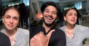 Dulquer Salmaan reveals why Aditi Rao cried on the sets of Hey Sinamika