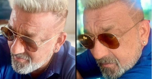 After recovery from cancer, Sanjay Dutt flaunts platinum blonde hairdo