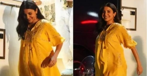 7-months pregnant Anushka Sharma looks super cheerful, pics go viral