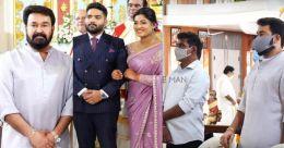 Mohanlal graces Antony Perumbavoor's daughter's betrothal ceremony