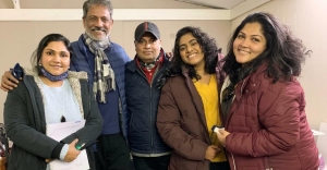 Nimisha Sajayan, Adil Hussain start shooting for 'FootPrints On Water' in London