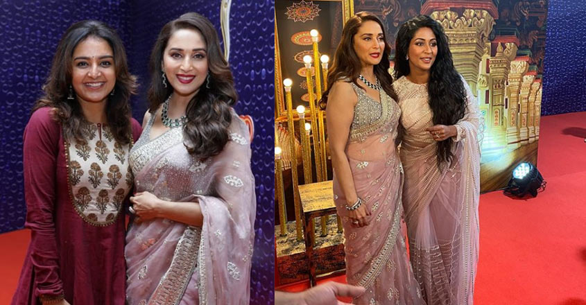 Manju Warrier and Navya Nair share a fan moment with Madhuri Dixit