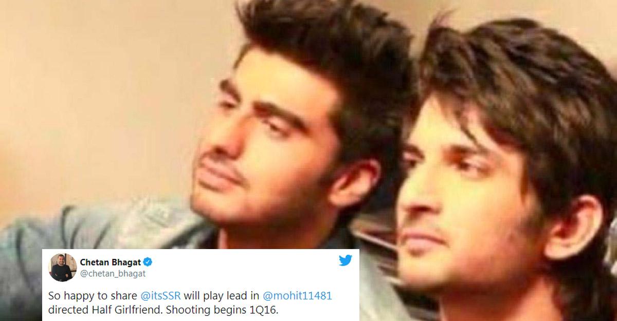 Arjun Kapoor trolled for 'replacing' Sushant in 'Half Girlfriend'.
