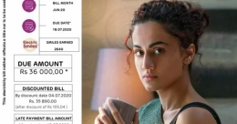 Taapsee Pannu complains about high electricity bill during lockdown