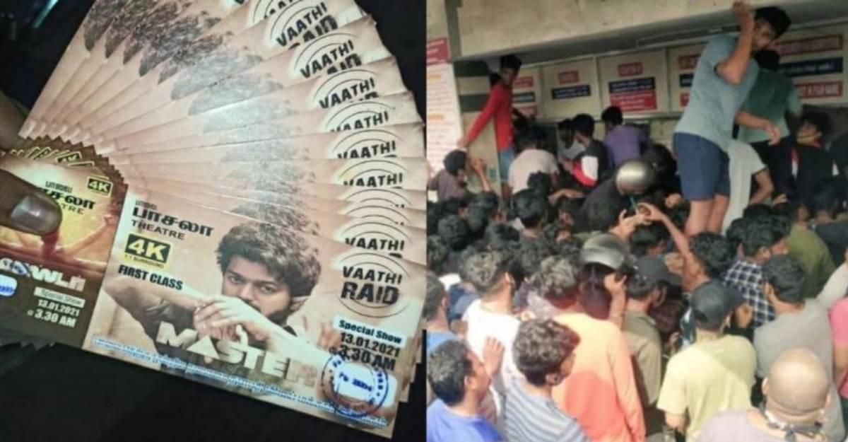 Big rush to buy Vijay's 'Master' tickets, fans go into a frenzy forgetting social distancing