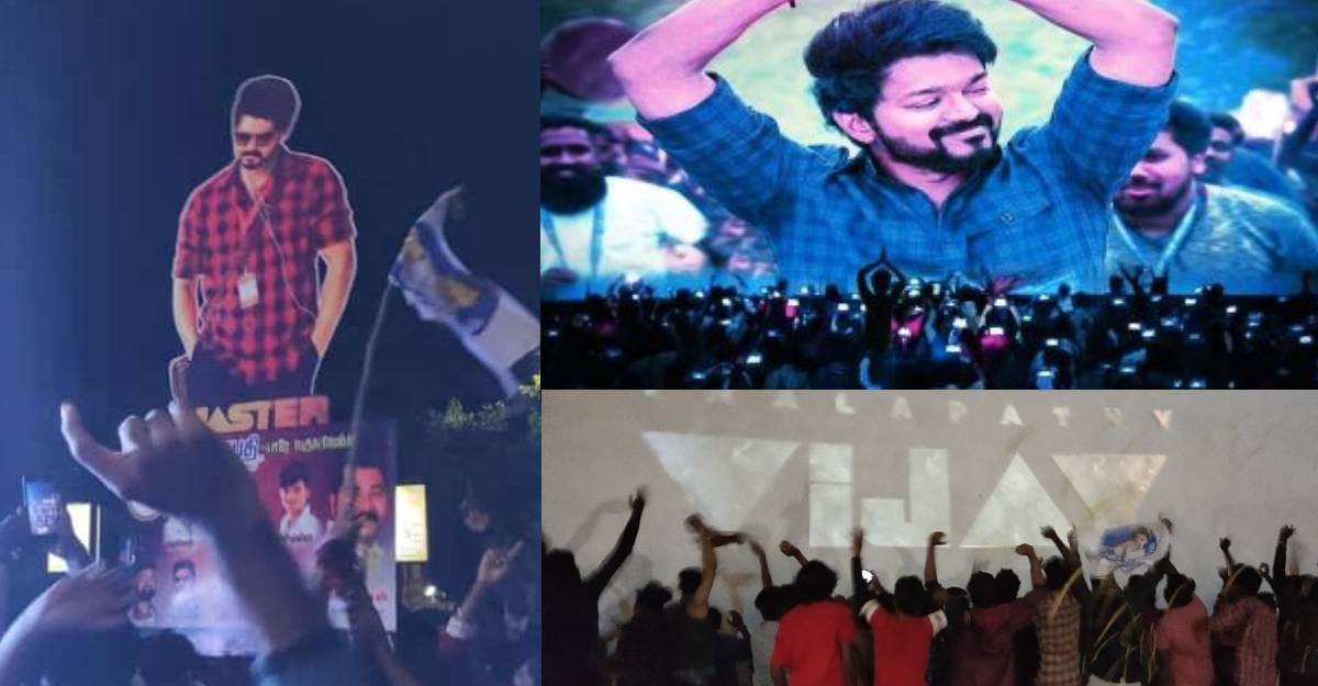 A Master Pongal for Vijay fans: Fans forget social distancing and celebrate the release