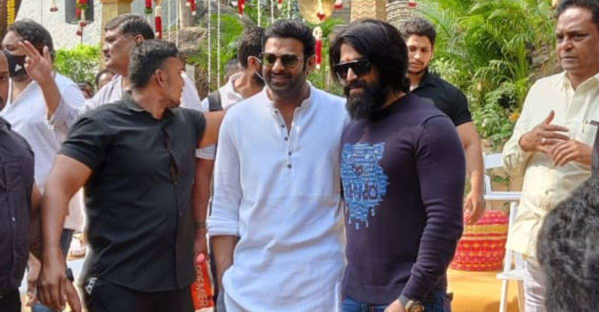 Prabhas and Yash pose together at Salaar launch, pic goes viral