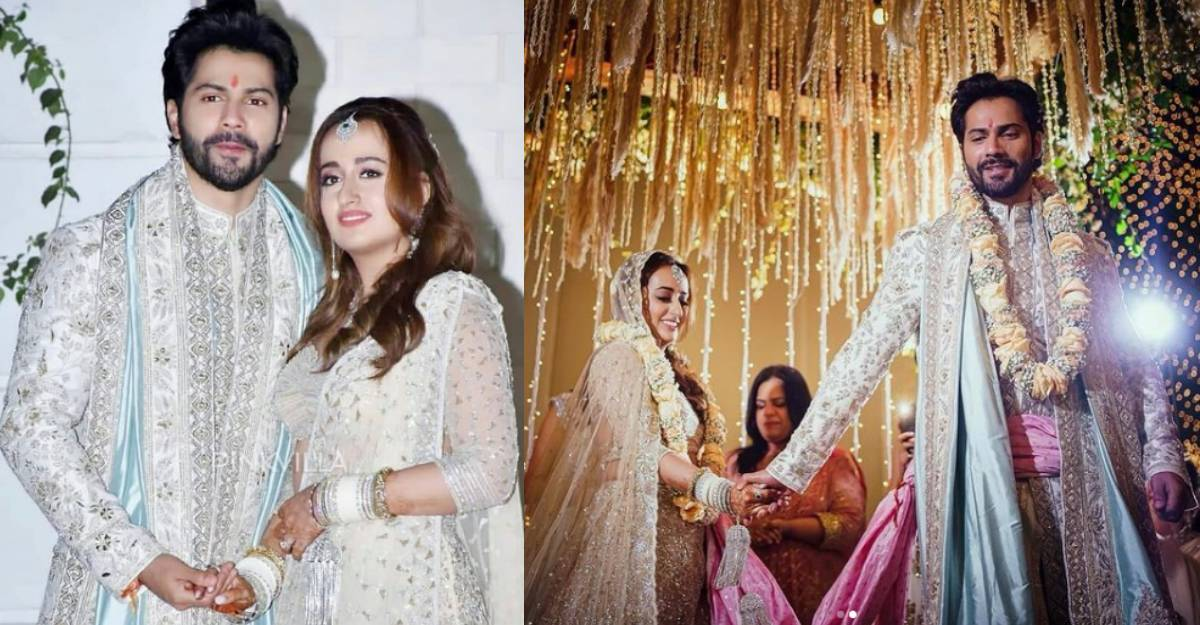 Varun Dhawan shares first image of wedding with Natasha Dalal