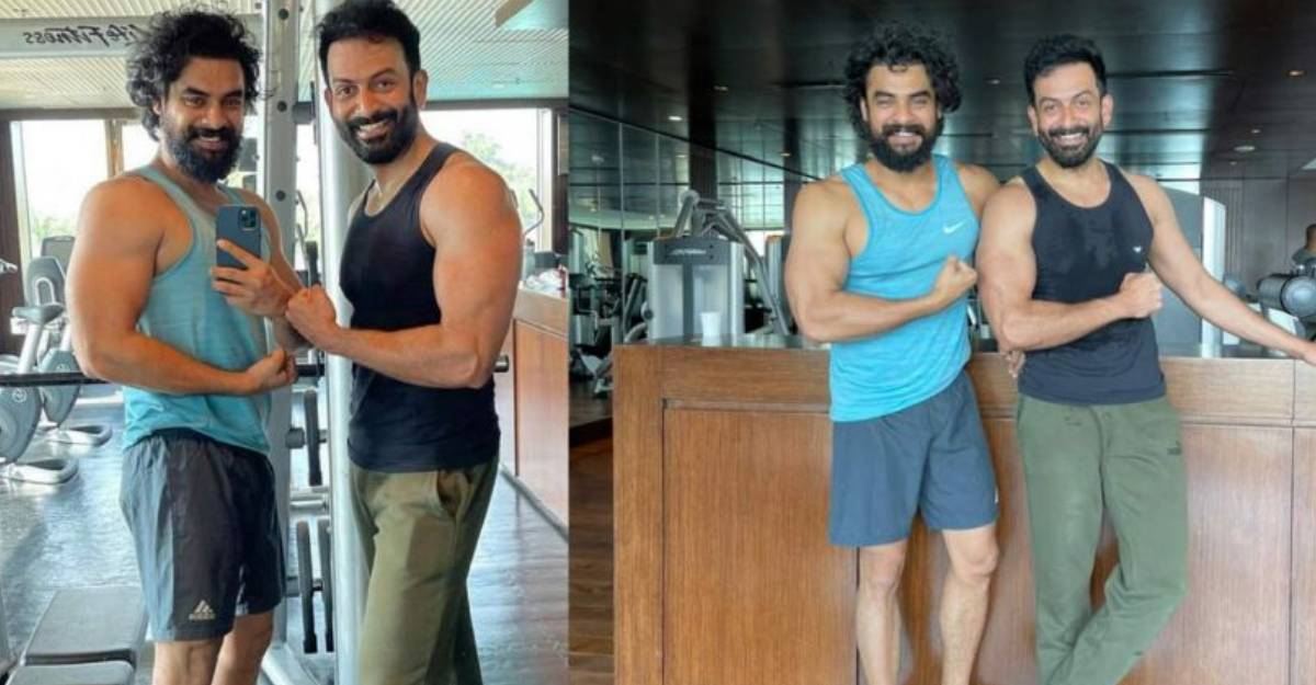 Prithviraj and Tovino hit the gym together, pics go viral