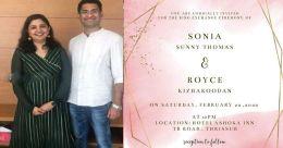 Rimi Tomy's ex-husband Royce Kizhakoodan announces his marriage to Sonia
