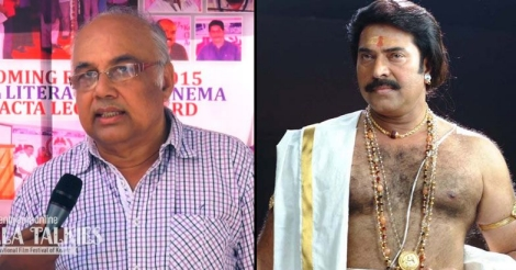 Actor-director P. Sreekumar (L) actor Mammootty