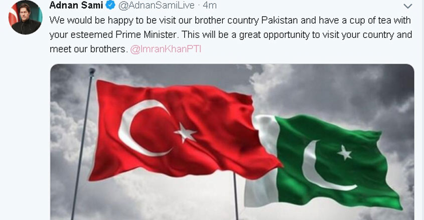 Popular singer Adnan Sami's Twitter account was hacked, and his profile picture replaced with that of Pakistan Prime Minister Imran Khan, a day after megastar Amitabh Bachchan's account on the micro-blogging platform was hacked, on June 11, 2019. A tweet on the profile also featured a flag each of Turkey and a Pakistan.The caption of the photograph read: