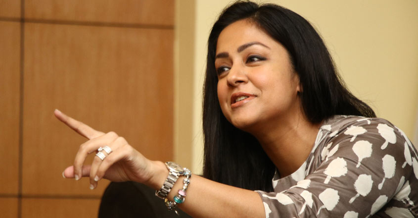 """It is difficult to act alongside Suriya"", reveals Jyothika 