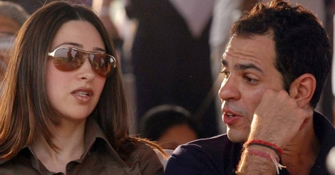 Karisma Kapoor with husband