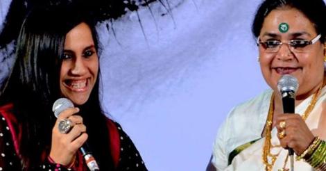 Nikhita with Usha Uthup