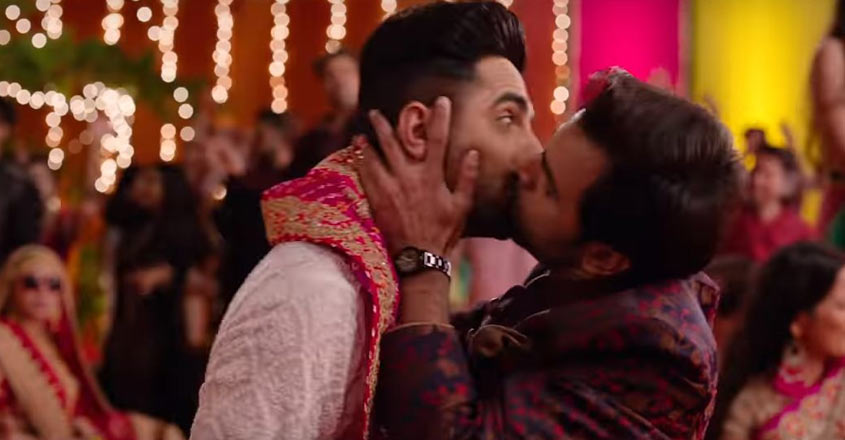 Ayushmann Khurrana's lip-lock with co-star Jitendra Kumar is the highlight moment of