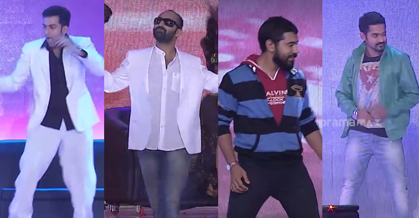 Watch: When Prithvi, Fahadh, Nivin, Jayasurya, Asif & Kunchacko came together on stage