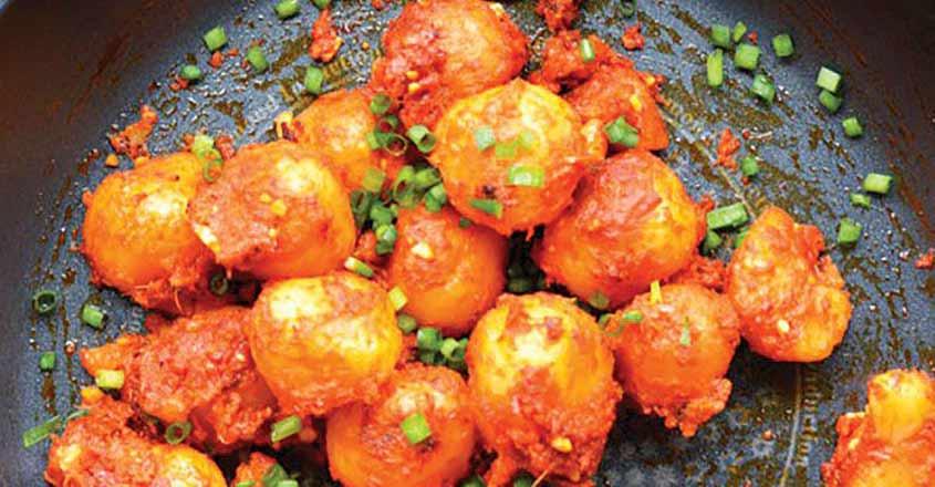 Crunchy and spicy dragon potato
