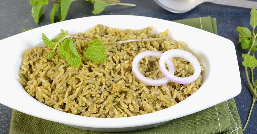 Fragrant and flavoursome mint rice | Shutterstock