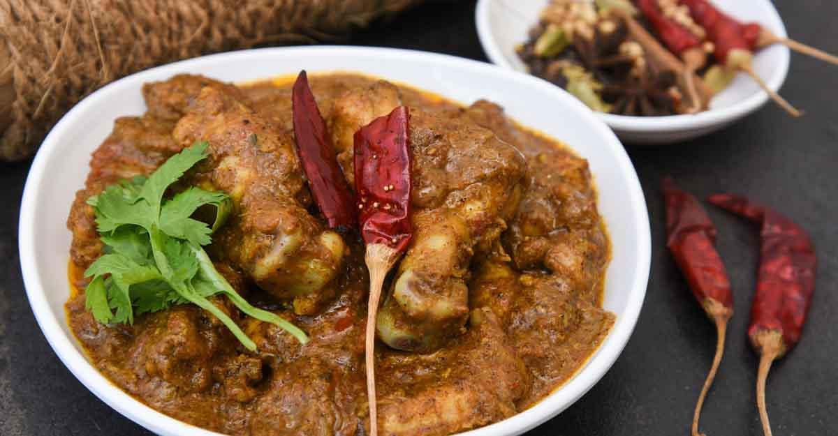 Hyderabadi dum chicken roast