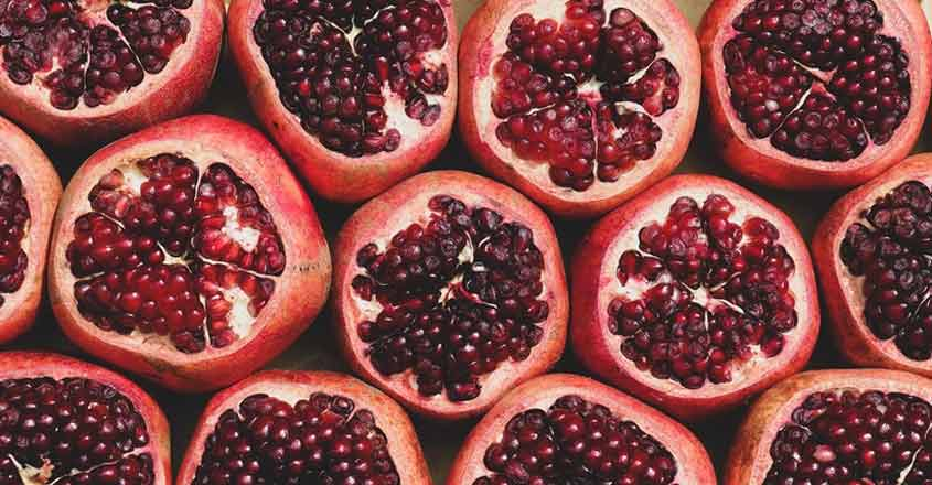 Perks of a pomegranate!